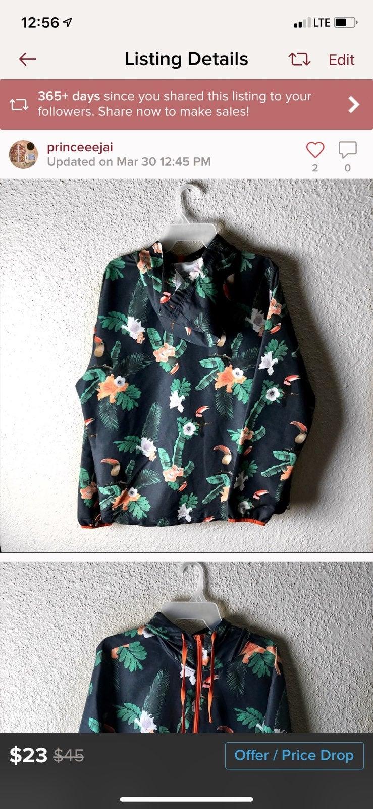 Flamingo rain jacket