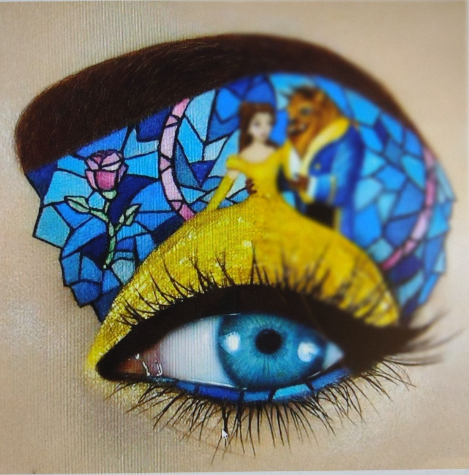 Beauty and The Beast Eye Diamond Art
