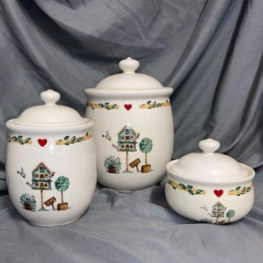 Thomson Pottery Birdhouse Set