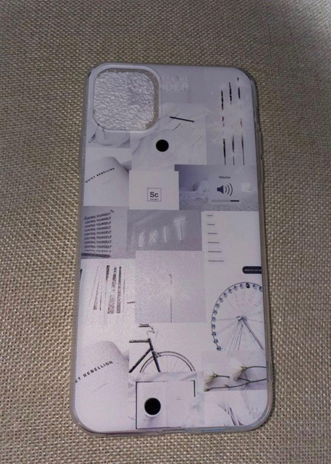 White aesthetic iphone 11 pro case