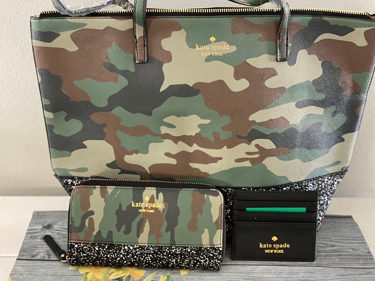 Kate Spade purse Camo 3 Piece Set