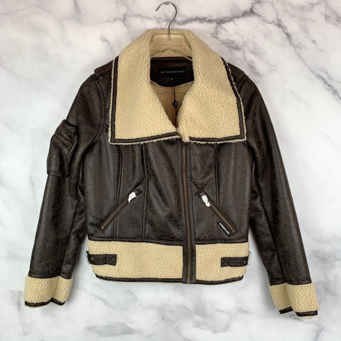 NWT Members Only Sherpa Moto Jacket S