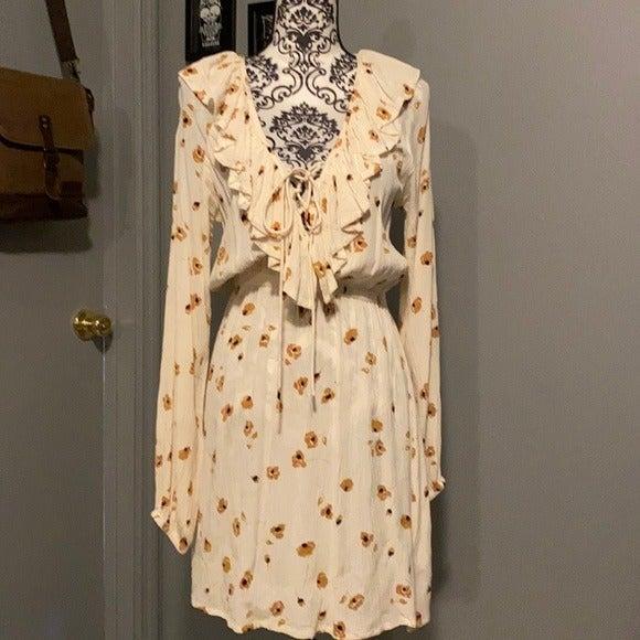 Billabong Floral Print long sleeve dress