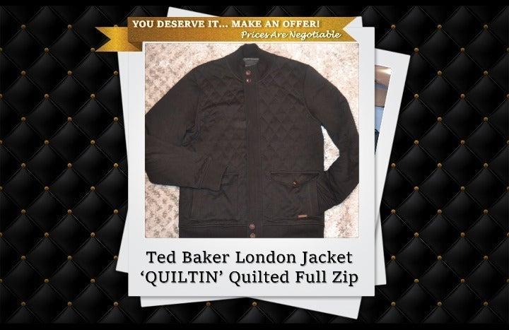 Ted Baker London XL 'Quiltin' Jacket