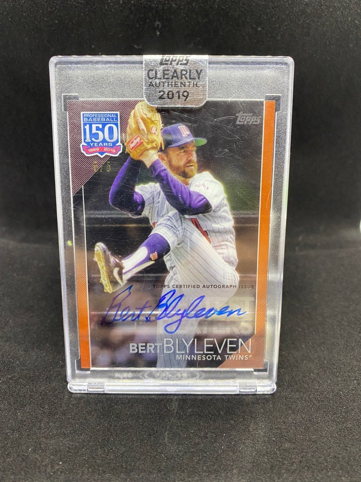 Bert Blyleven Clearly Authentic Auto /5