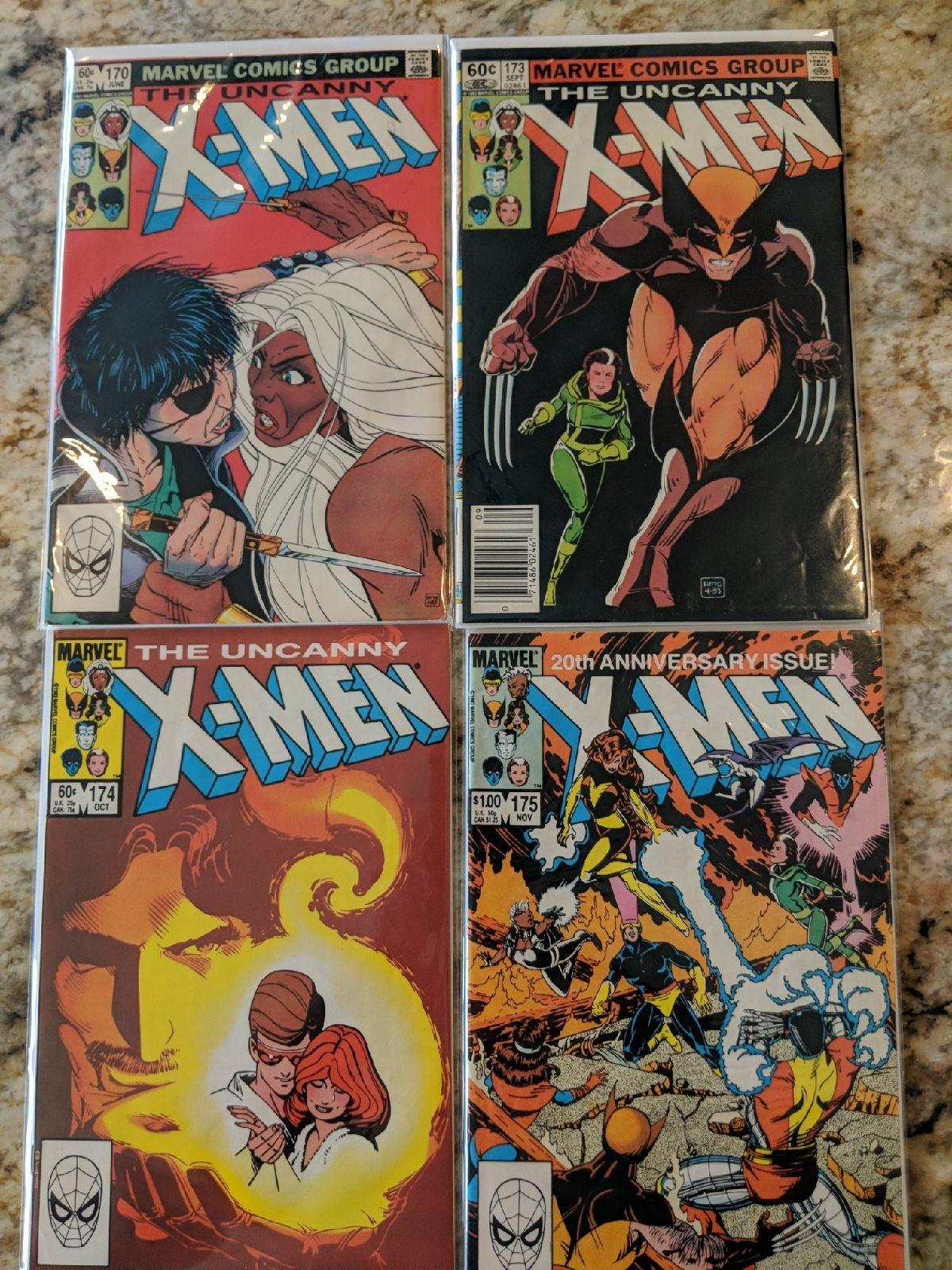 X Men Lot #170, #173, #174 & #175 Keys