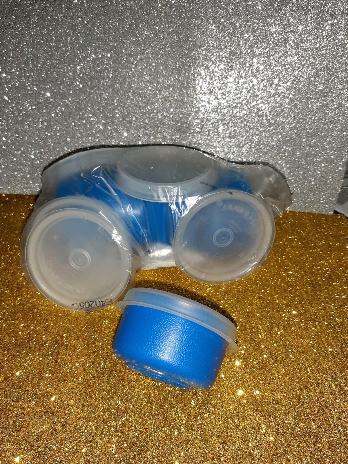 Tupperware Set of 5 Blue Smidgets