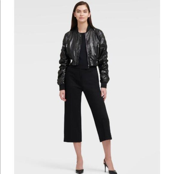 DKNY BOMBER Jacket WITH RUCHED SLEEVES