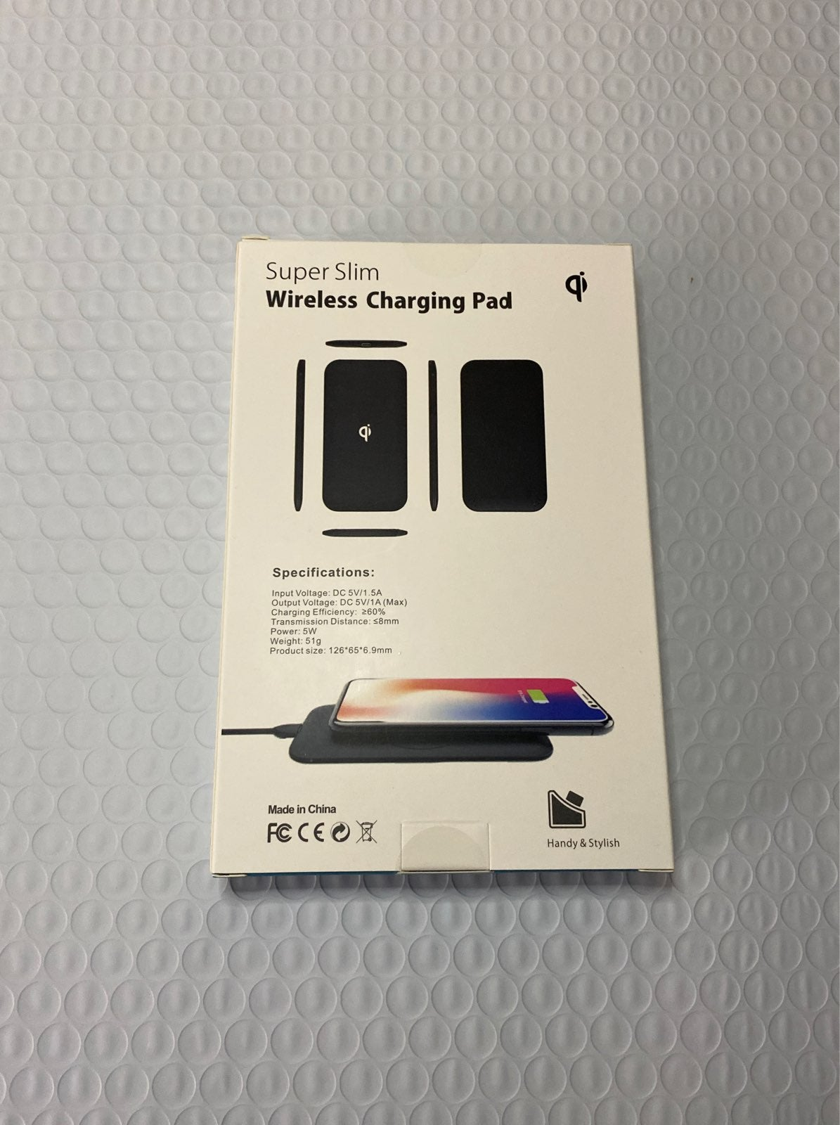 Wireless Qi Cellphone Charger Black Rube