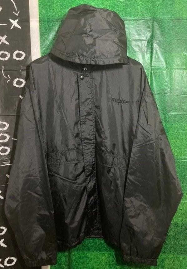 Speedo Black Windbreaker Hoodie Jacket
