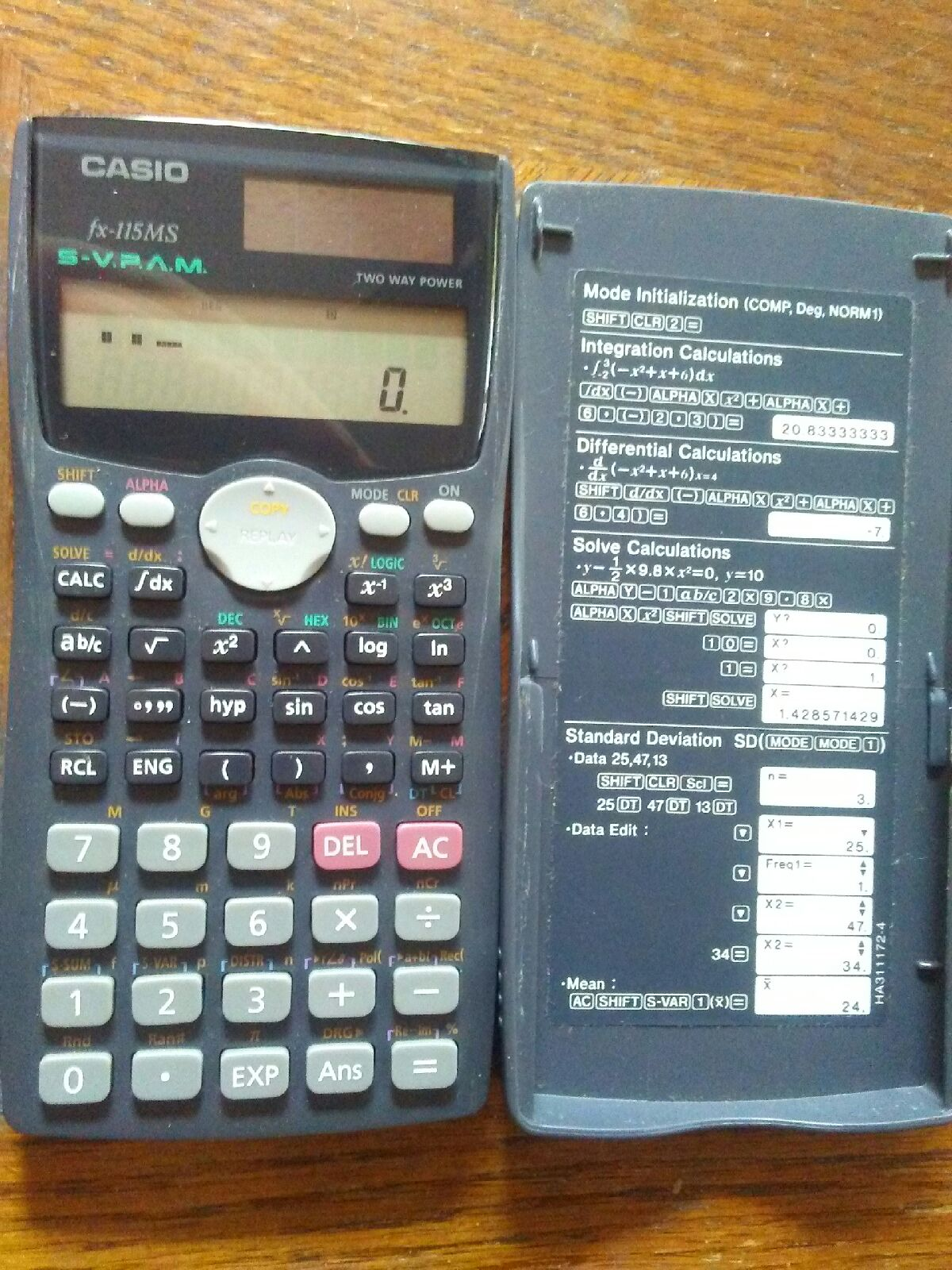 Casio Calculator Fx-115MS