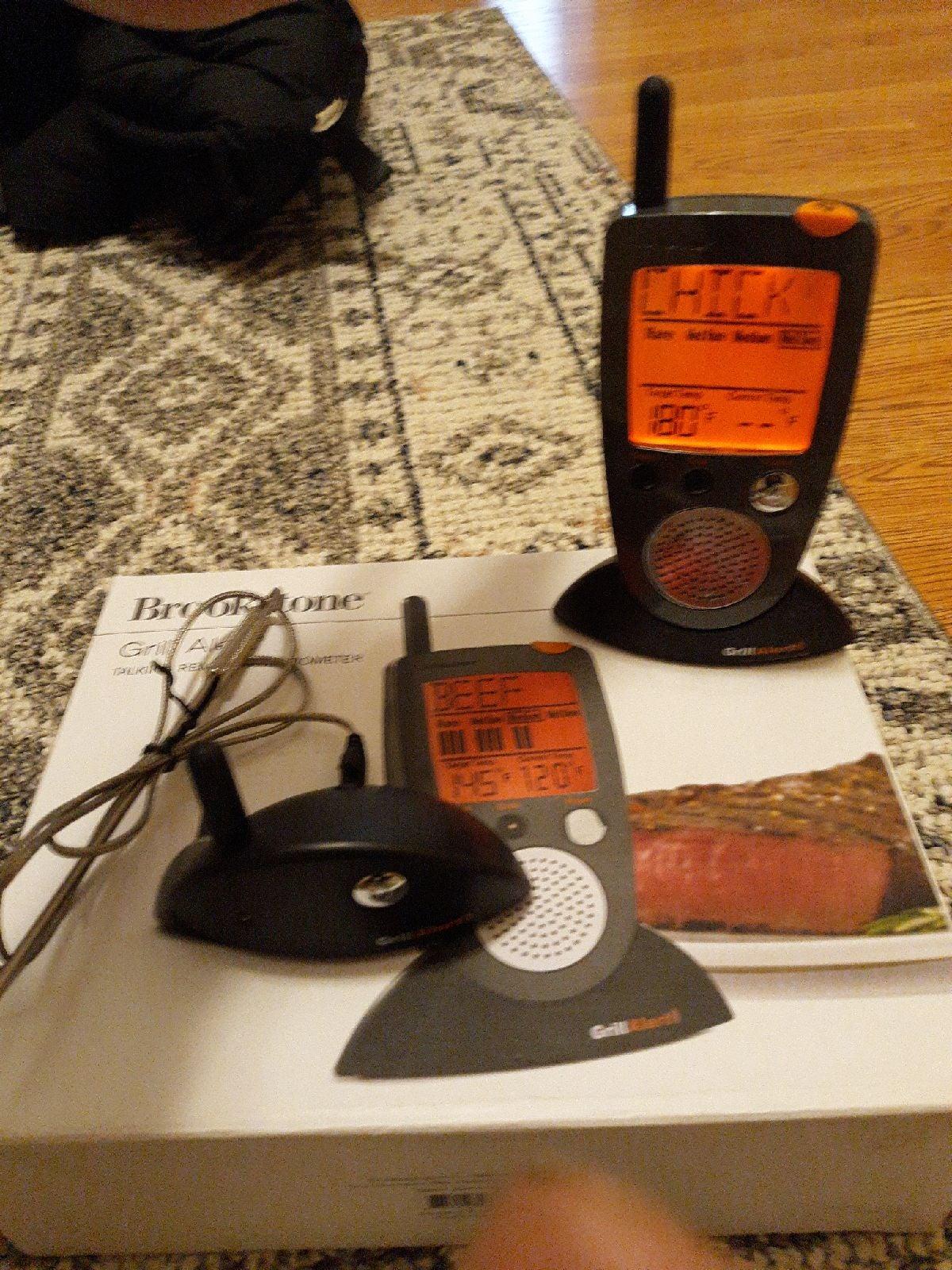 bbq grill alert talking thermometer