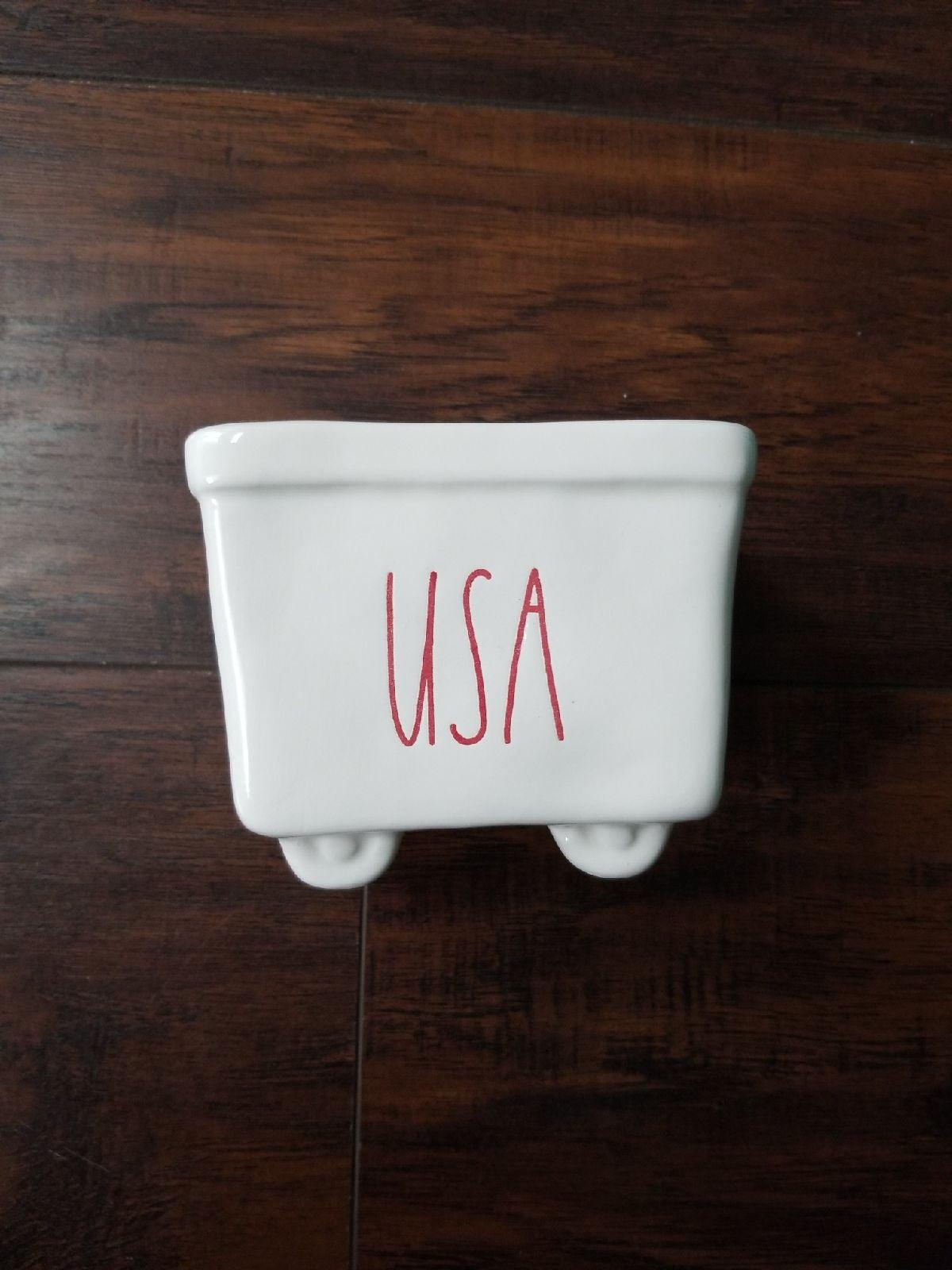 Rae dunn 4th of July USA cart