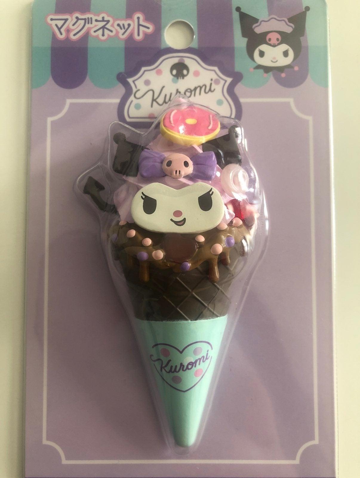 Sanrio Kuromi Ice Cream Cone Magnet