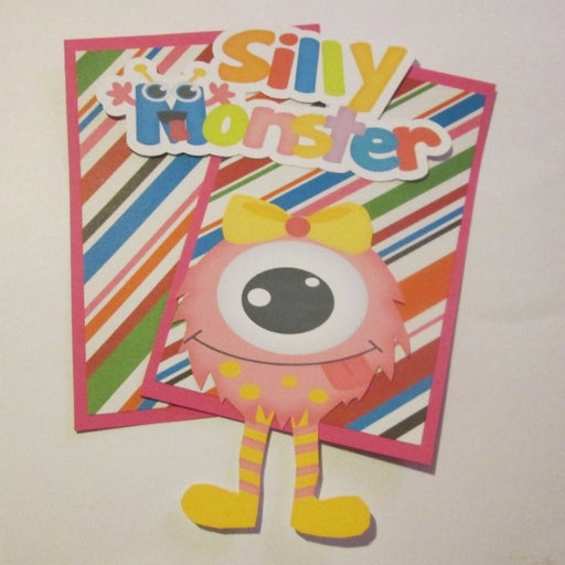 Silly Monster a - Scrapbook or Card Set