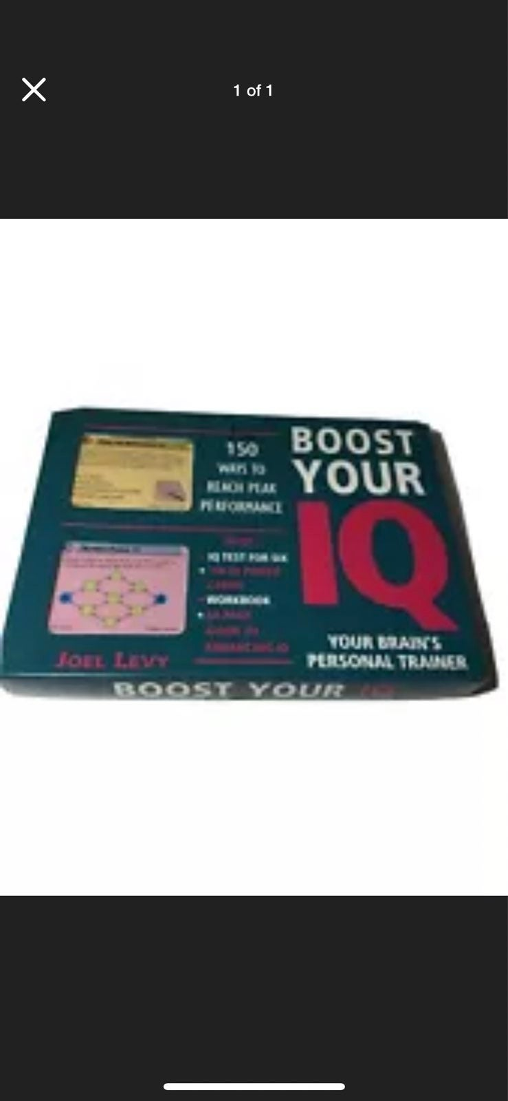 Joel Levy Boost Your IQ with IQ Test new