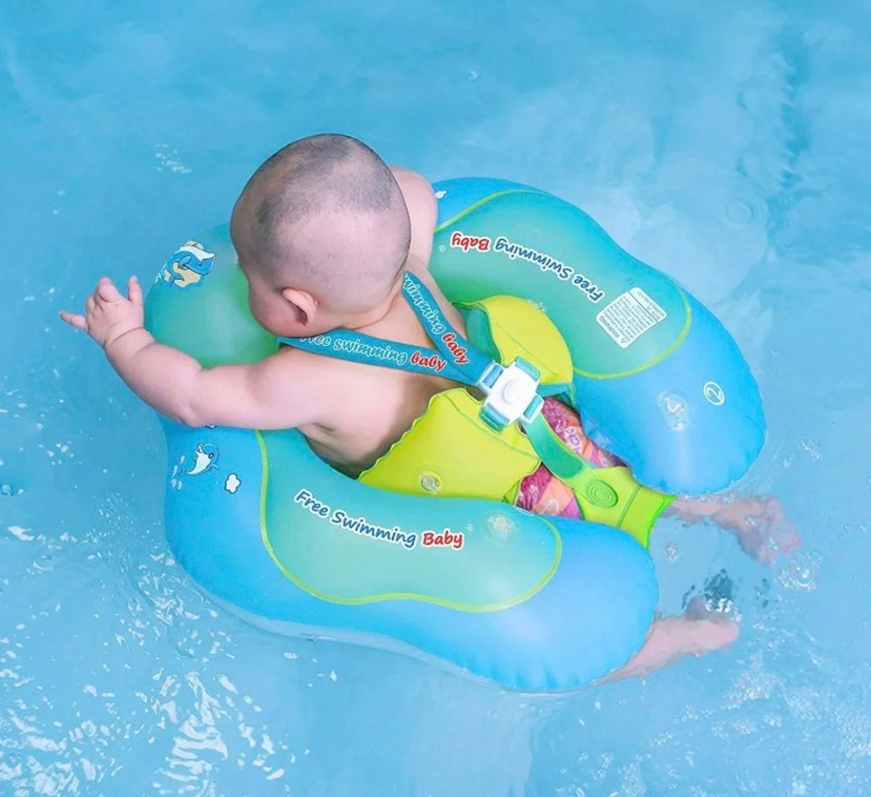 Inflatable baby infant float ring