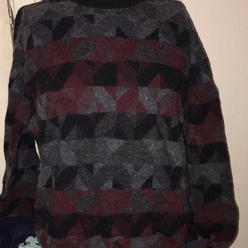 Vintage Crazy Horse Red/Black Sweater