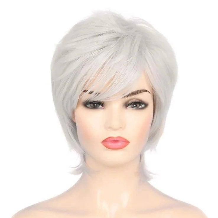 Short Spiky White Wig