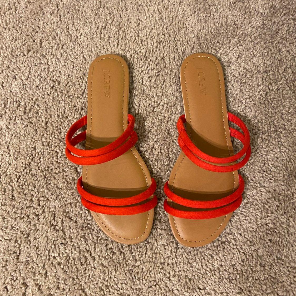 JCrew red strappy Sandals 8
