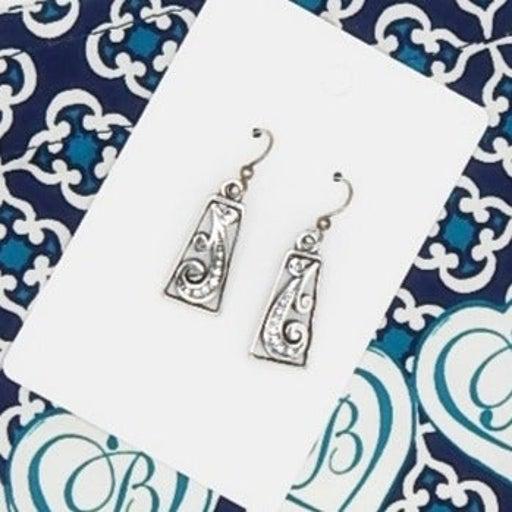 NWOT BRIGHTON Crystal Swirl Earrings