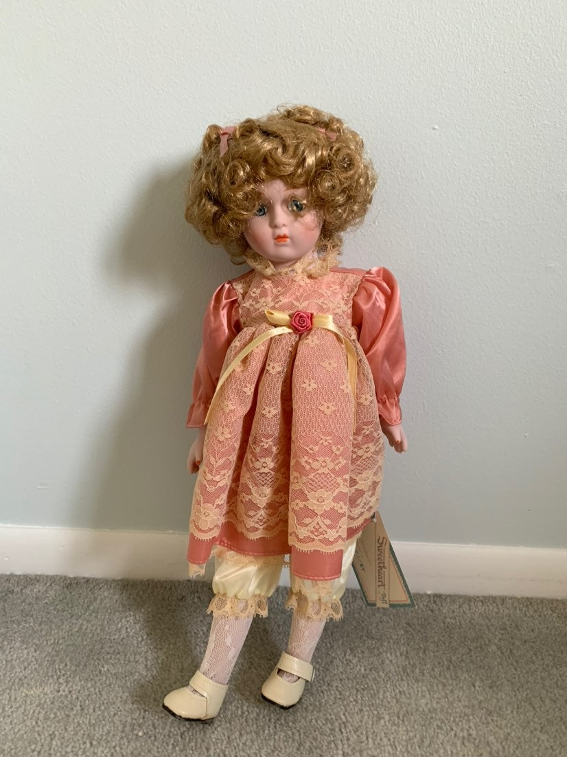 """16"""" Porcelain Stacey Doll By Sweetheart"""