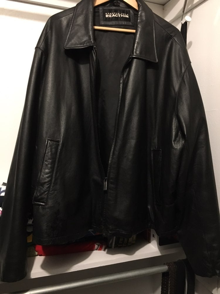 KENNETH COLE REACTION LEATHER JACKET