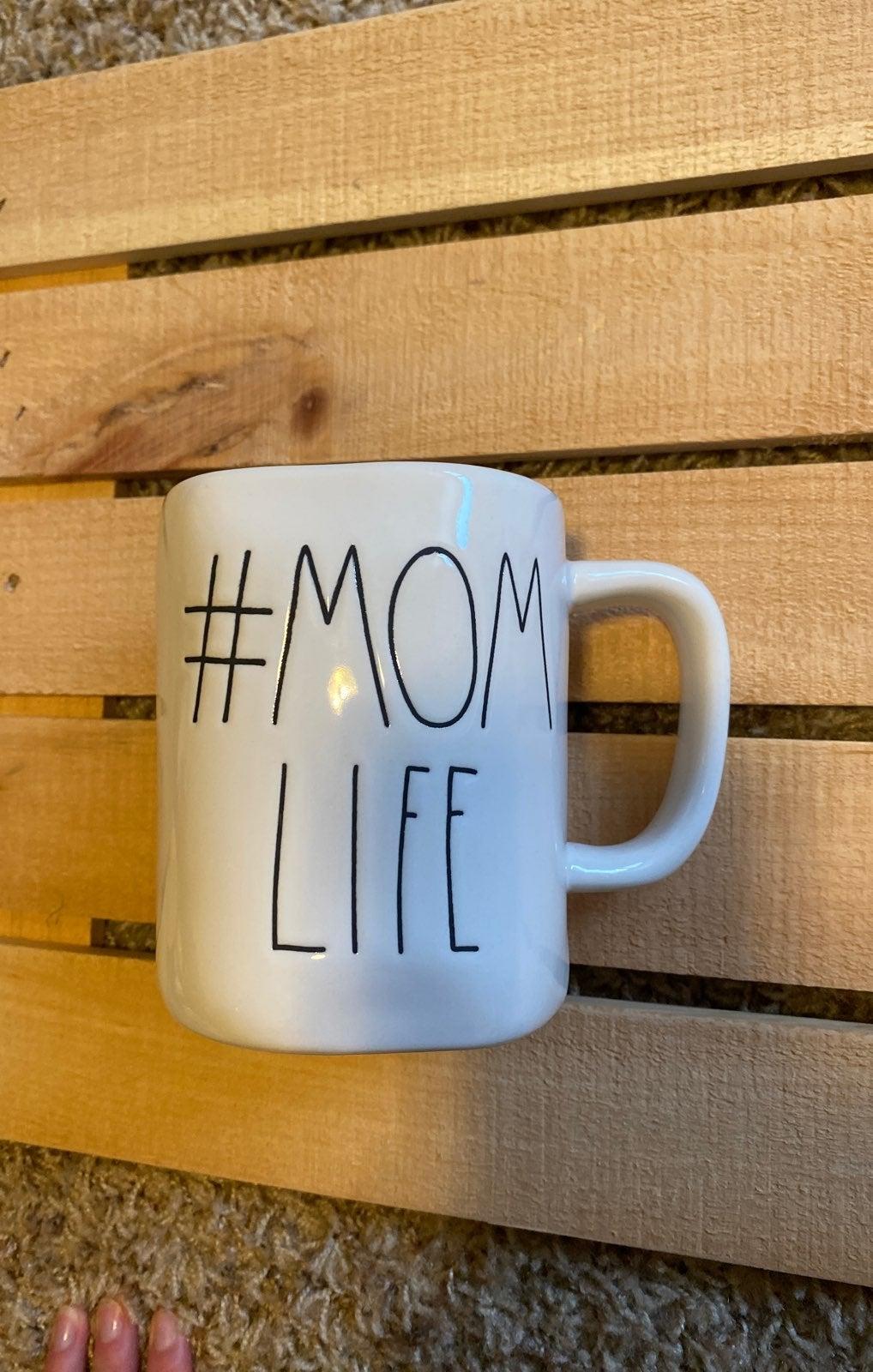 Rae Dunn #Mom life mug