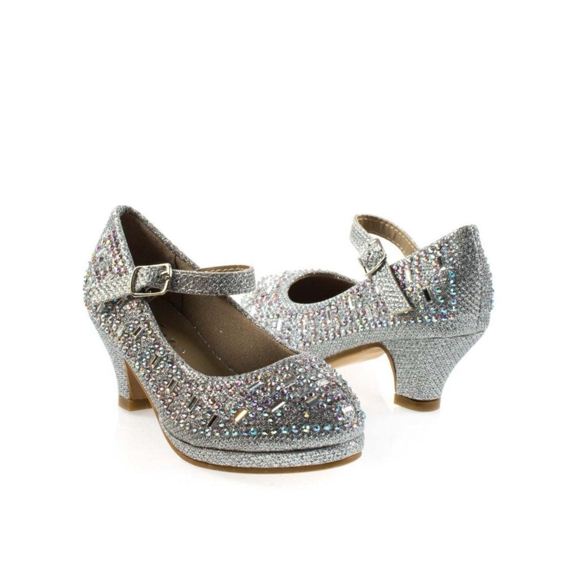 Girl's Rhinestone Dress up Formal Shoes