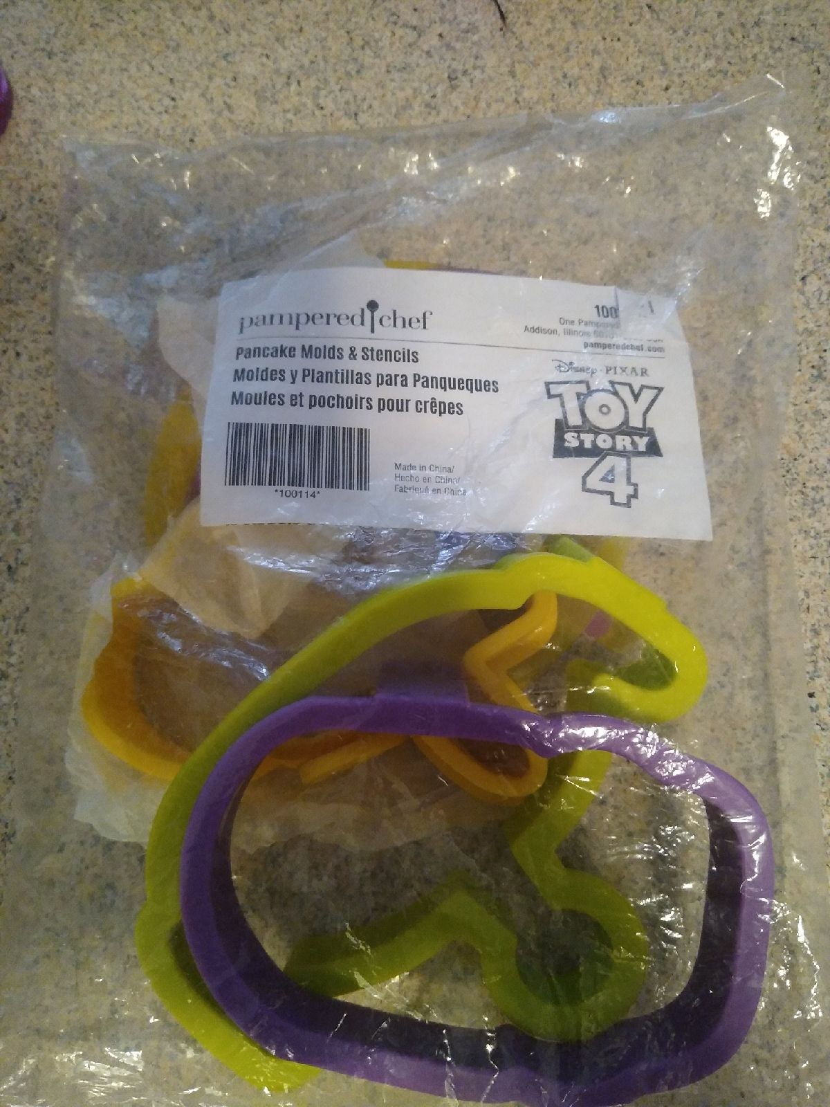 Pampered chef toy story 4 pancake molds