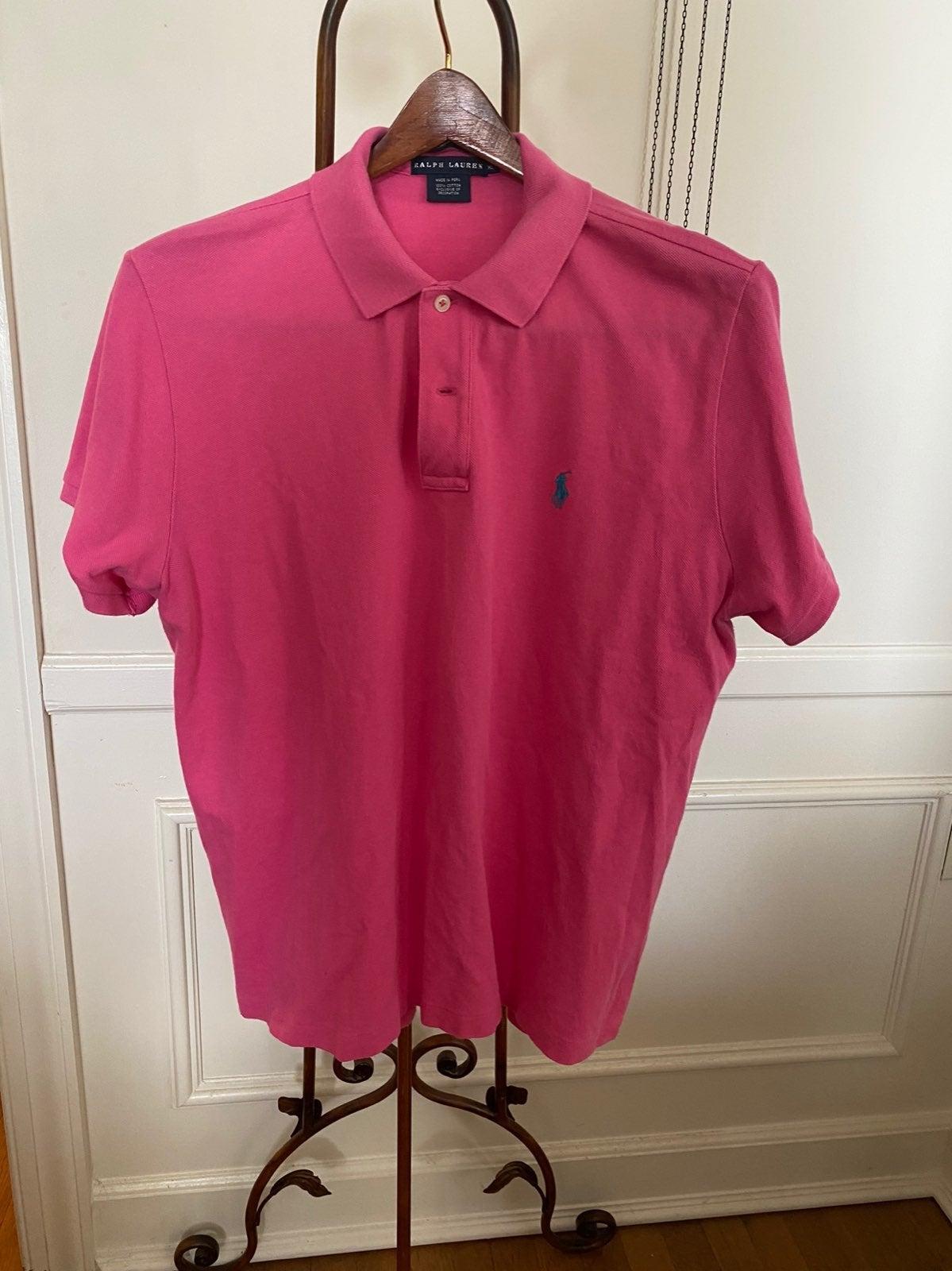 Hot Pink Ralph Lauren Polo Shirt XL