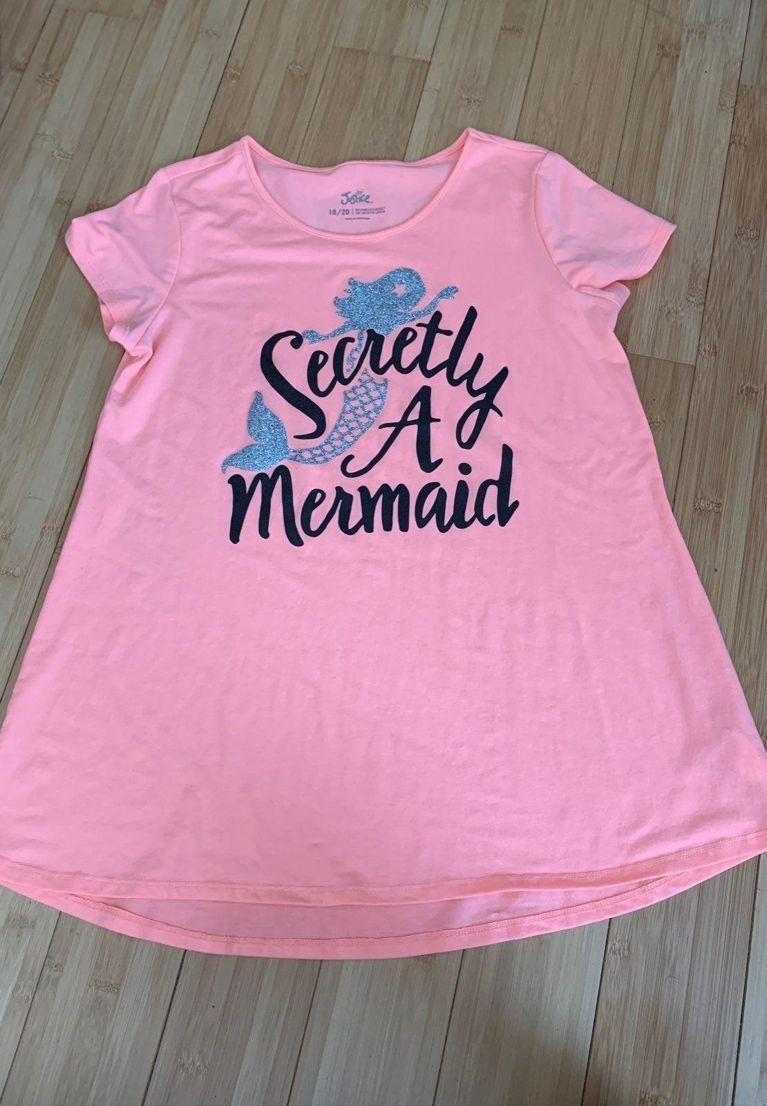 Justice Sparkle Mermaid Shirt 2XL