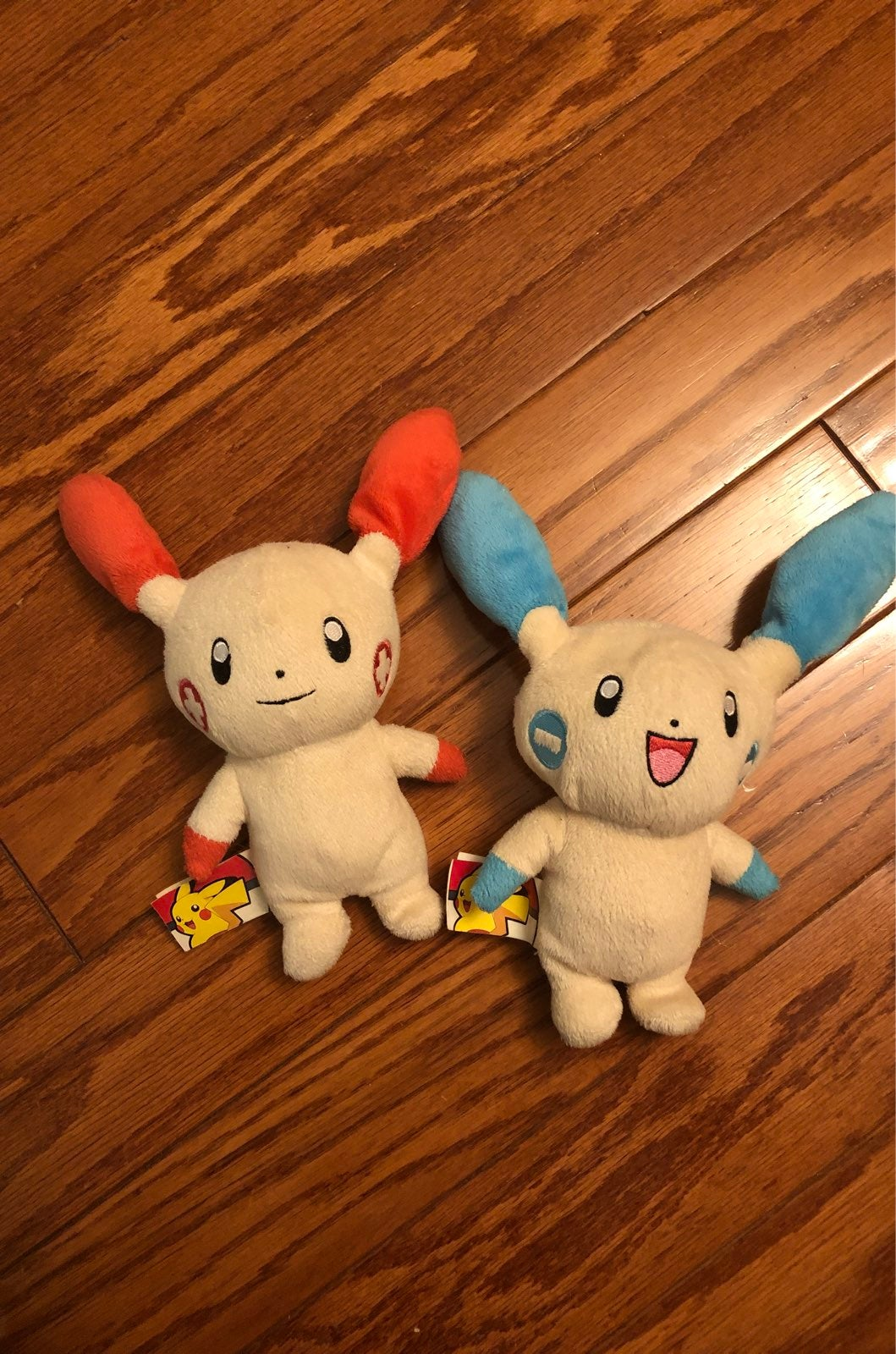 Minun and Plusle Plushes