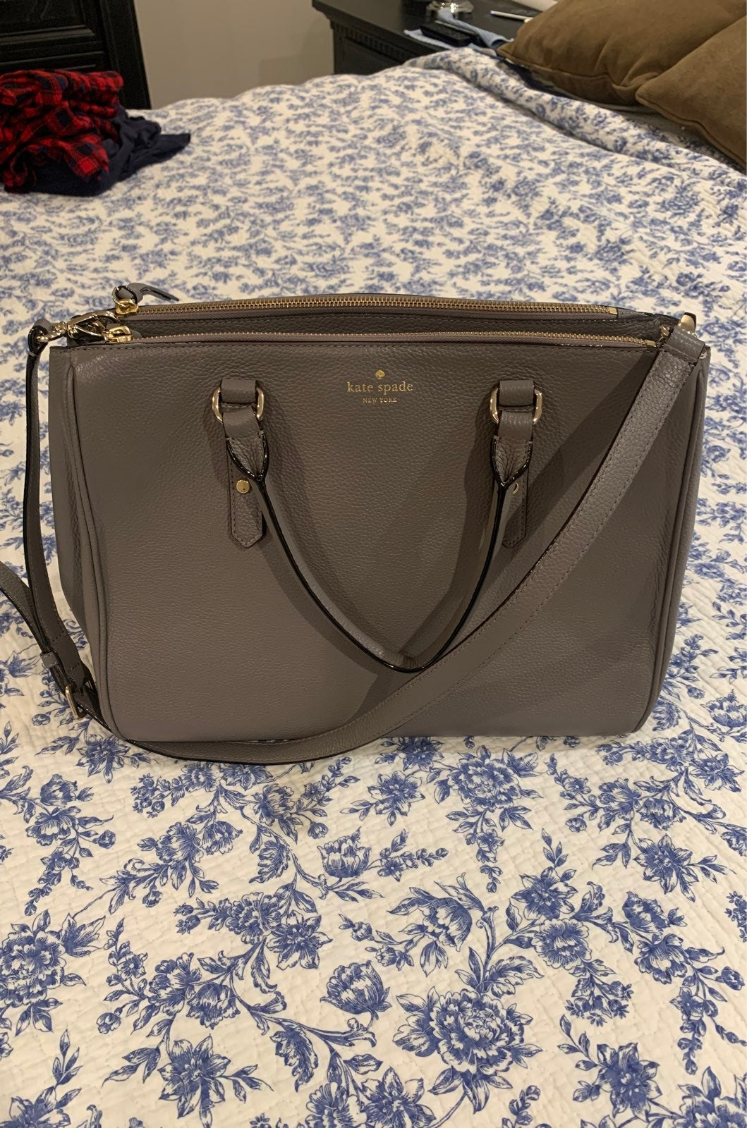 Kate Spade Tote in Gray Leather