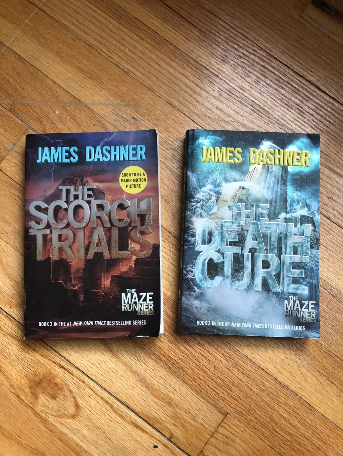 The Maze Runner books 2 and 3