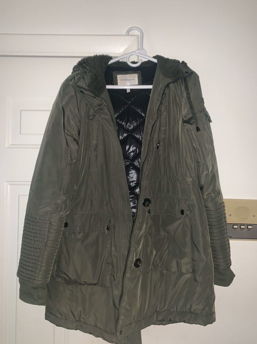BCBG Camo Fuzzy Lined Jacket