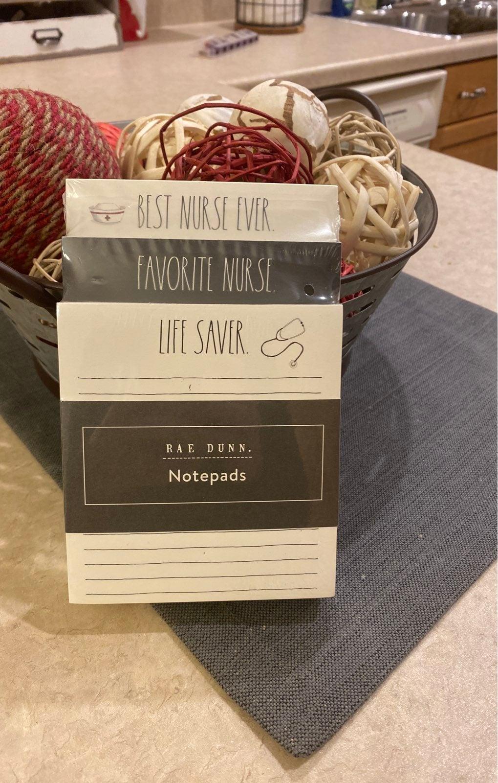 Rae Dunn Nurse Note Pad Set
