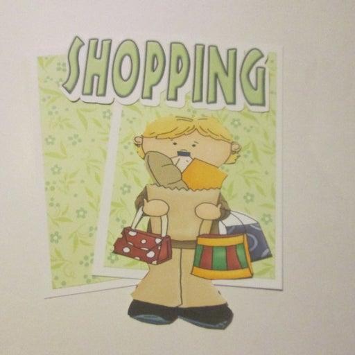 Shopping  - Scrapbook or Card Set