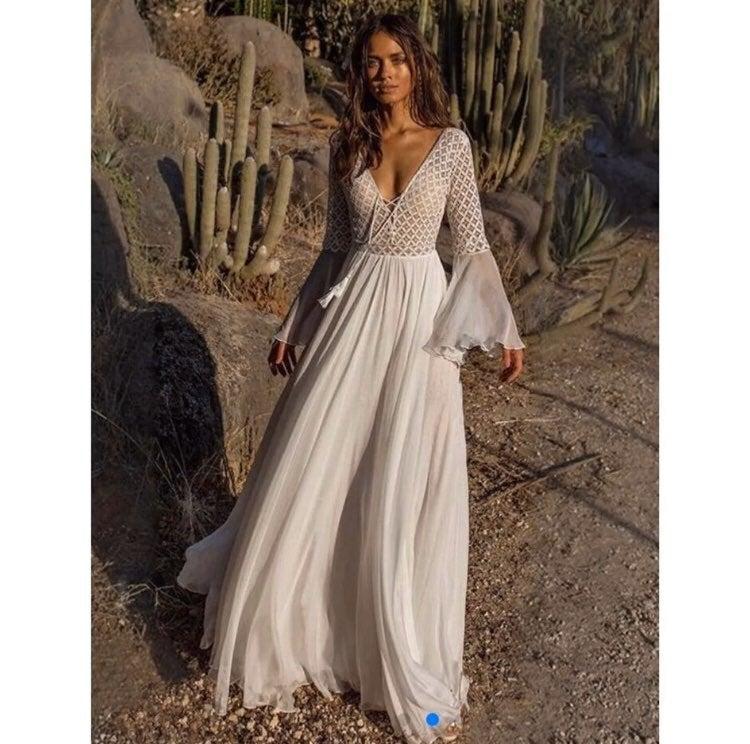 New white maxi dress