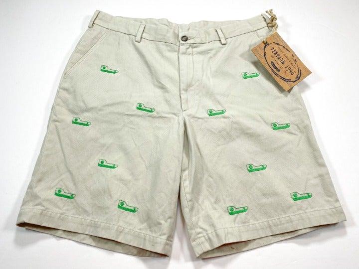 Vintage 1946 Men's Cotton Khaki Shorts