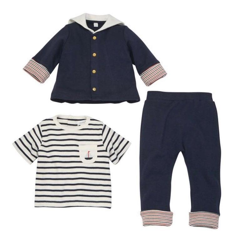 Mud pie baby boy sailor suit 6/9 months