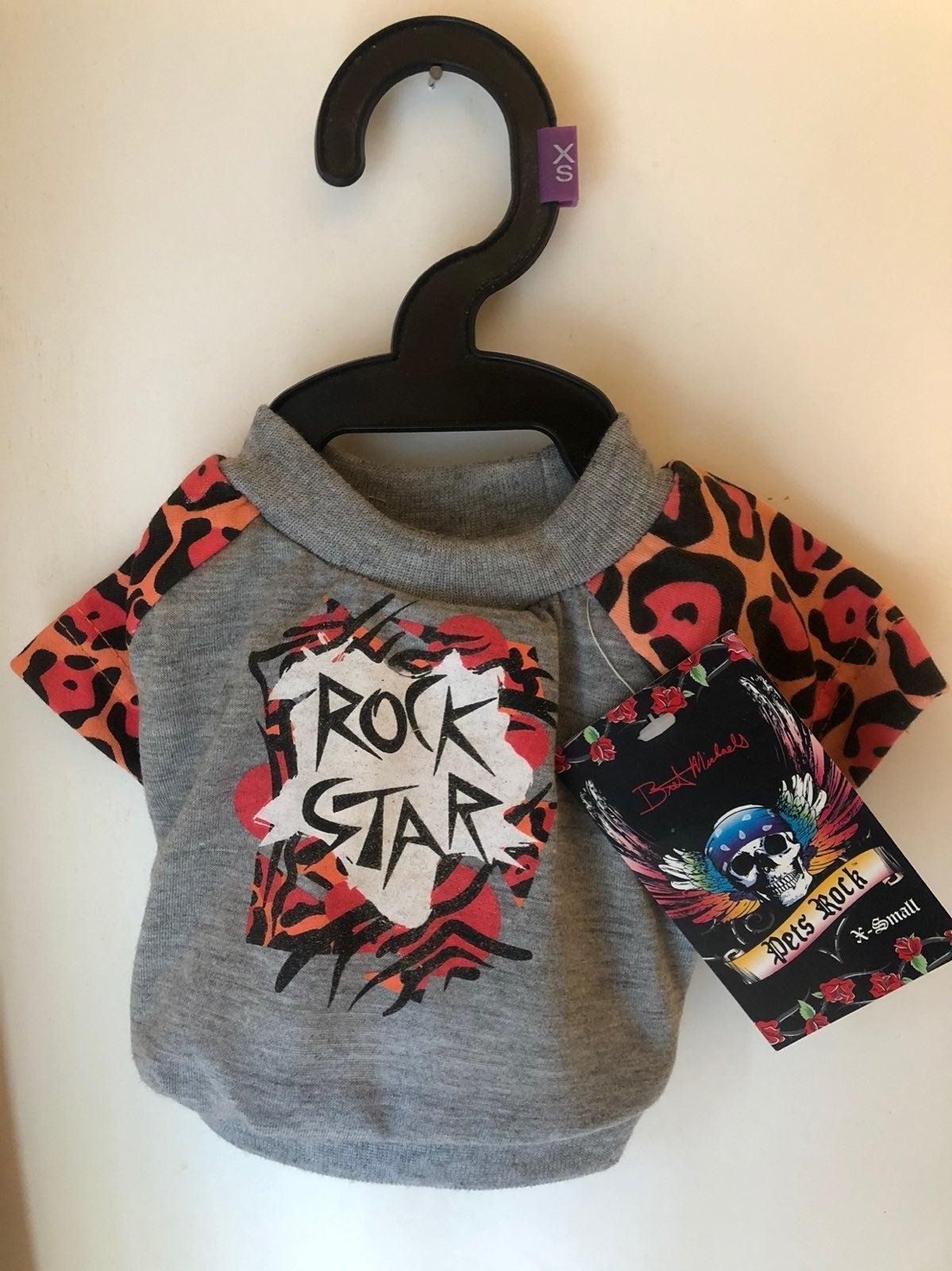 XS dog rock star shirt toy size