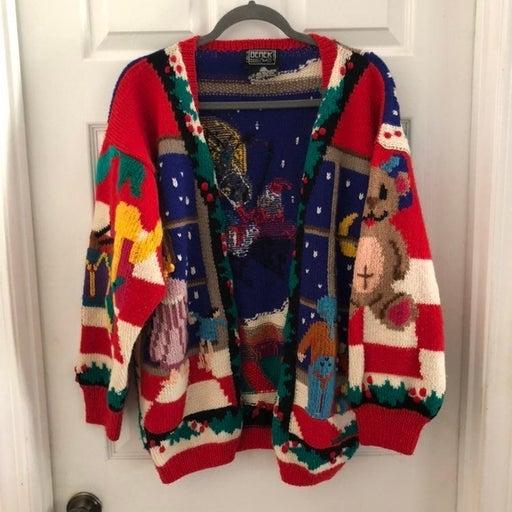 Berek wool Christmas sweater Sz L