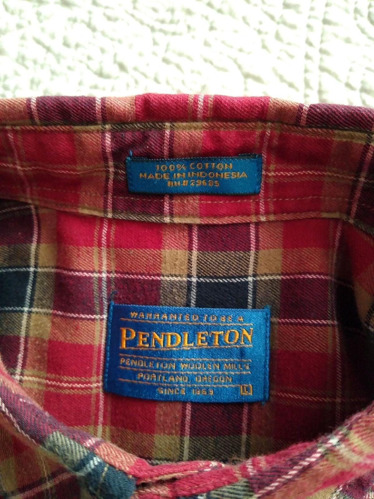 Pendleton Cotton Flannel Shirt, Men's L