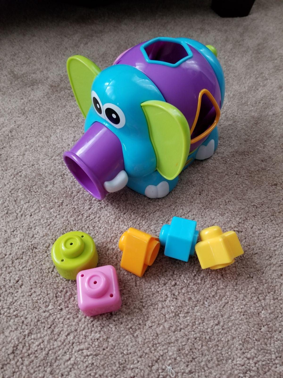 Infantino Jumbo Elephant Shape Sorter