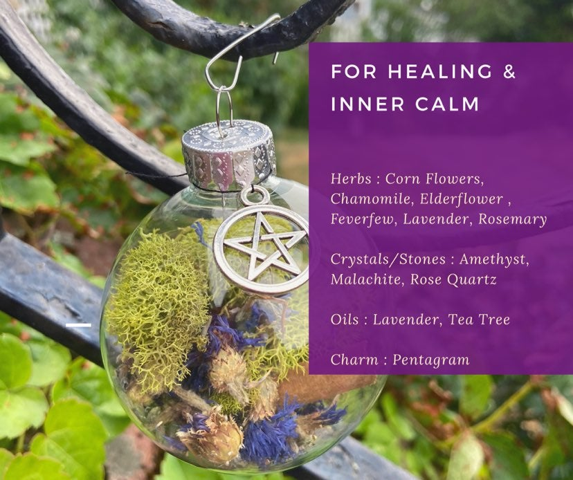 Healing & Calming Intention Witch Ball
