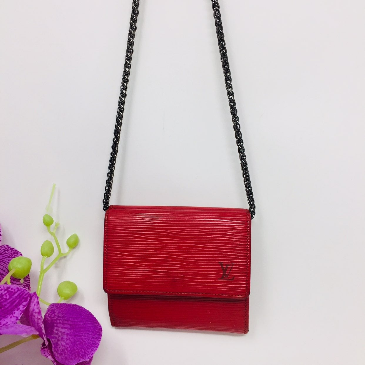 Authentic Preowned Louis Vuitton Red Sma