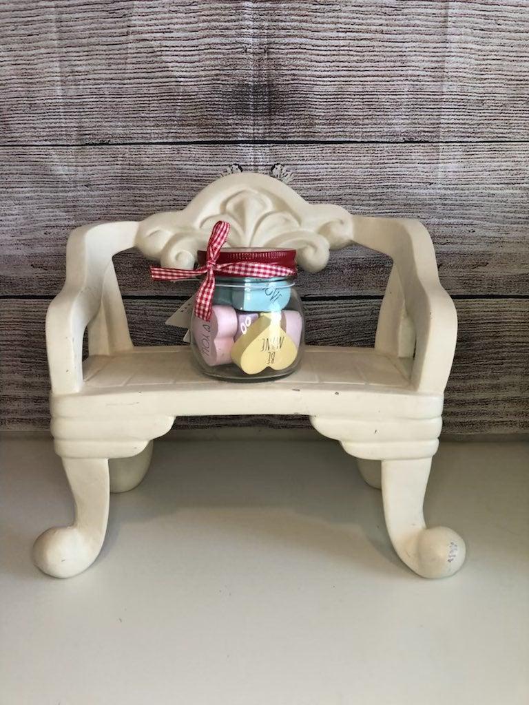Rae dunn candy hearts jar