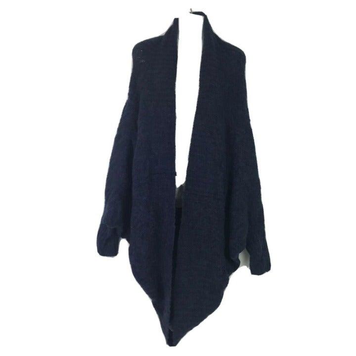 Lou & Grey M/L Blue Marble Knit Shrug