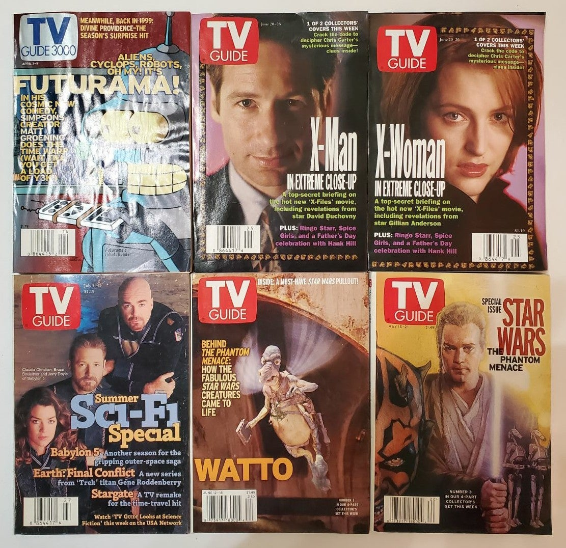 Lot of 6 Science Fiction TV Guide